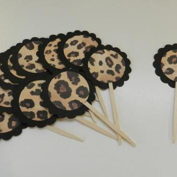 Leopard Cupcake Toppers Cheetah